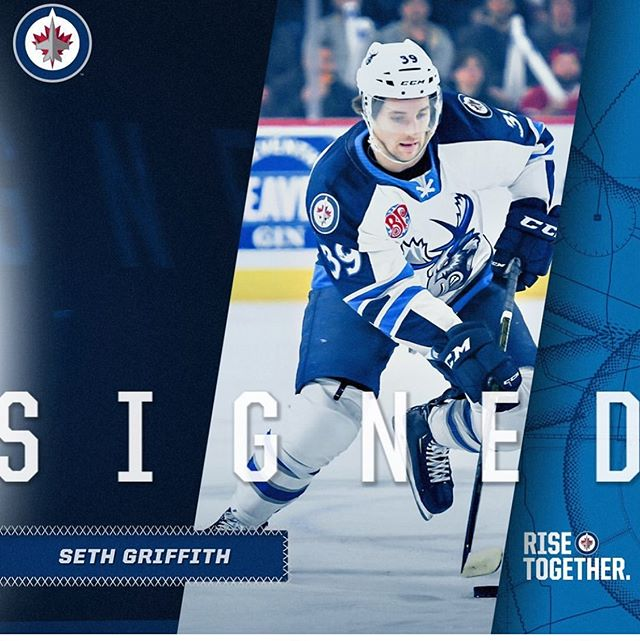Team @baffinbrewingco Seth Griffith has ✍🏻✍🏻✍🏻 Congrats!!! #NHLJets have agreed to terms with forward Seth Griffith on a one-year, two-way contract with an average annual value of $700,000.