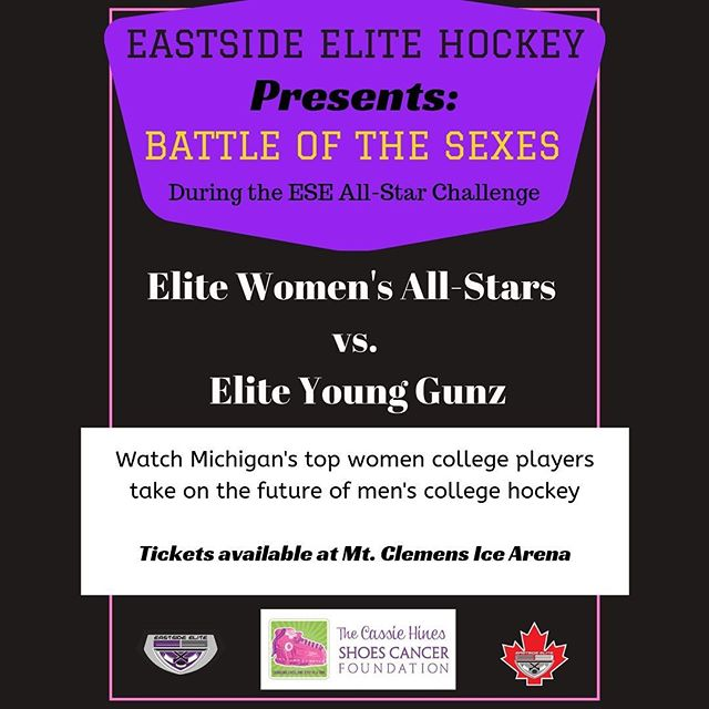 The first ever  @esehockey Battle of the Sexes game 🤴👸I can't wait to see who comes out on top in this game!! 👸🤴