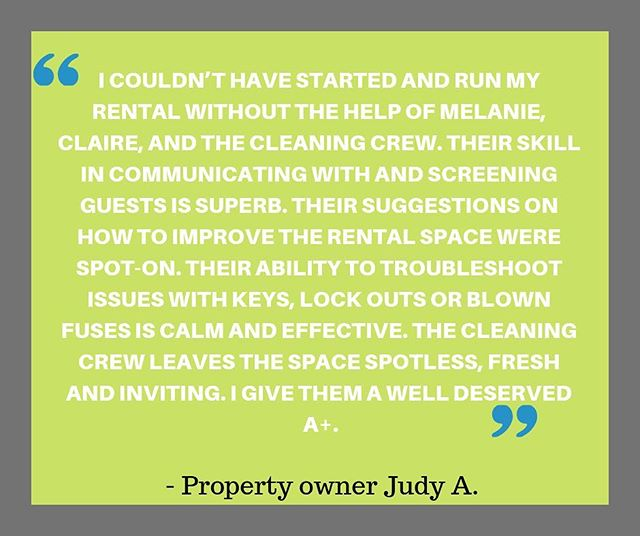 We take pride in our hard work! Thanks for the kind words Judy! ⭐️⭐️⭐️⭐️⭐️email melanie@homestylehost.com if you want more info about our 5 star services. ⭐️⭐️⭐️⭐️⭐️ #localbusiness #propertymanagement #visitportlandme #guests #reviews #homestylehost