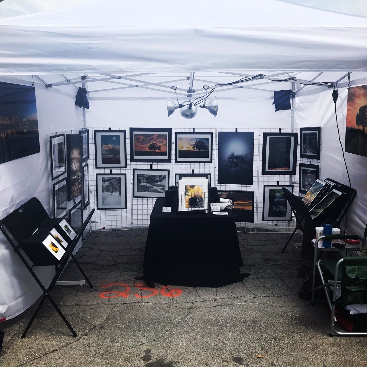 My booth this past weekend.