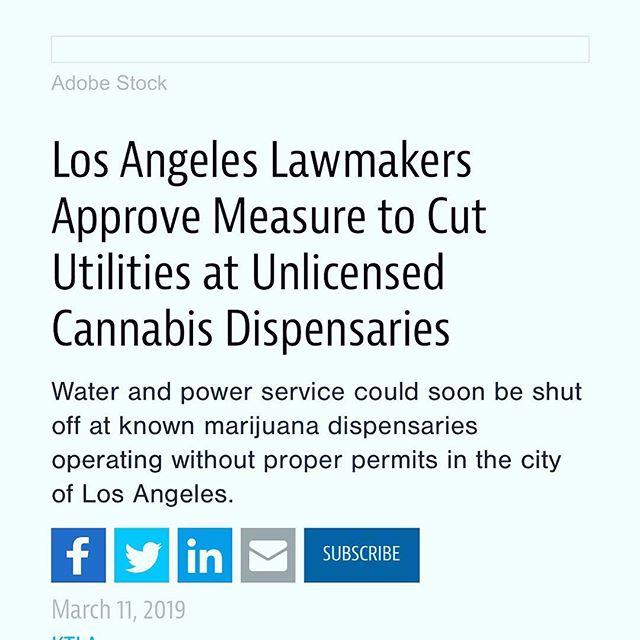 Old, but had to post it. - - https://www.cannabisdispensarymag.com/article/los-angeles-cut-utilities-unlicensed-cannabis-dispensaries/ - - #cannabis #cannabiscommunity #weed #weedstagram420 #weedstagram #420 #legalizeit #marijuan #californiacannabis #marijuanamovement #weedmemes #weedmaps #pot #marijuanagram #medicalmarijuana #mmj #mmjpatient #mmjlife