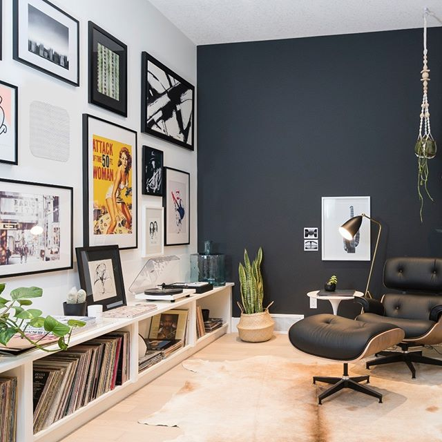 Get comfortable with your favorite record. . . . . . #noblefidelity #inwallspeaker #inwallspeakers #onwallspeakers #inceilingspeakers #eameschair #loungechair #vinylrecords #recordplayer #vinylculture #recordcollection #music #listentomusic #modernlife #modernfurniture #modernstyle #framedart #framedartwork #audiophile #stereo #hifi