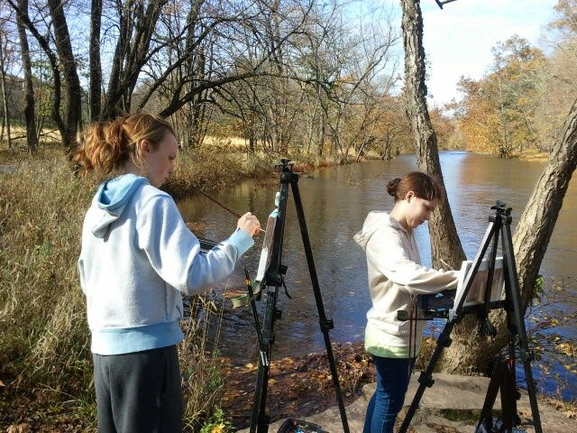 Plein air painting for team building and portfolio builders.