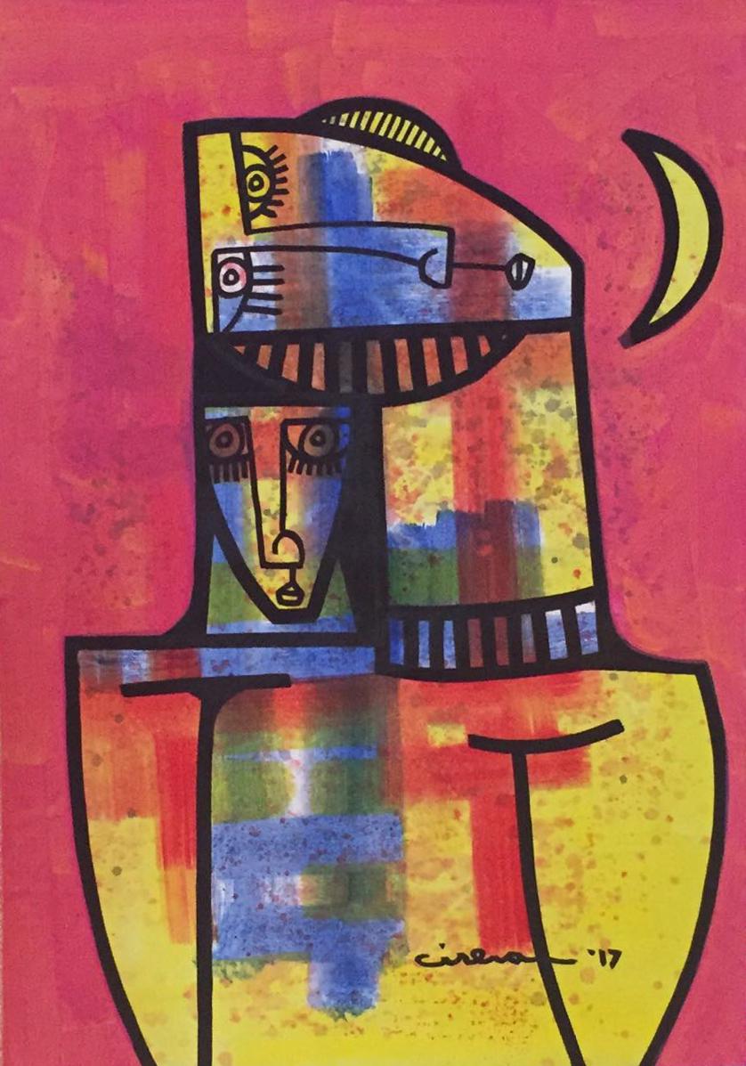 "Pareja - Oil on Canvas  24"" x 34"""