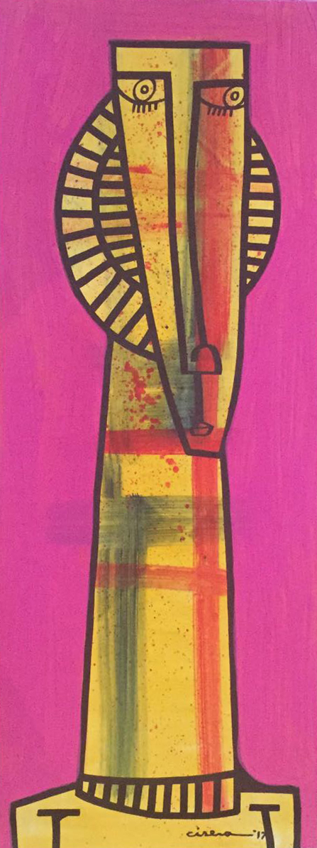 "Personaje - Oil on Canvas  20"" x 51"""