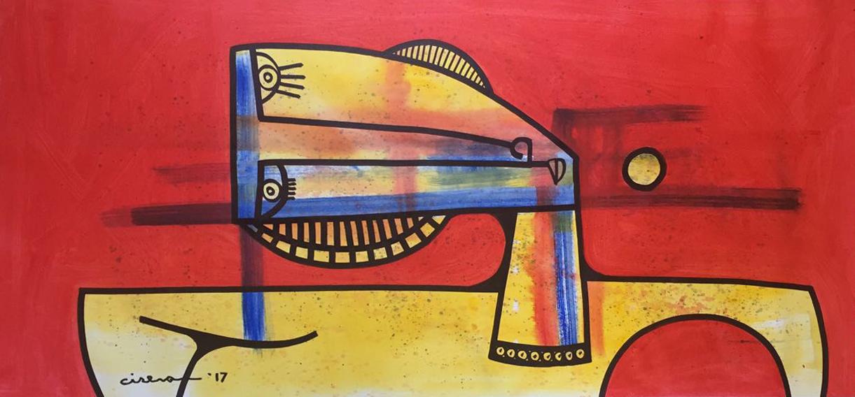 "Meditacion - Oil on Canvas  29"" x 61"""