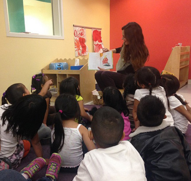 Reading with LA Earth Angels at St. Anne's