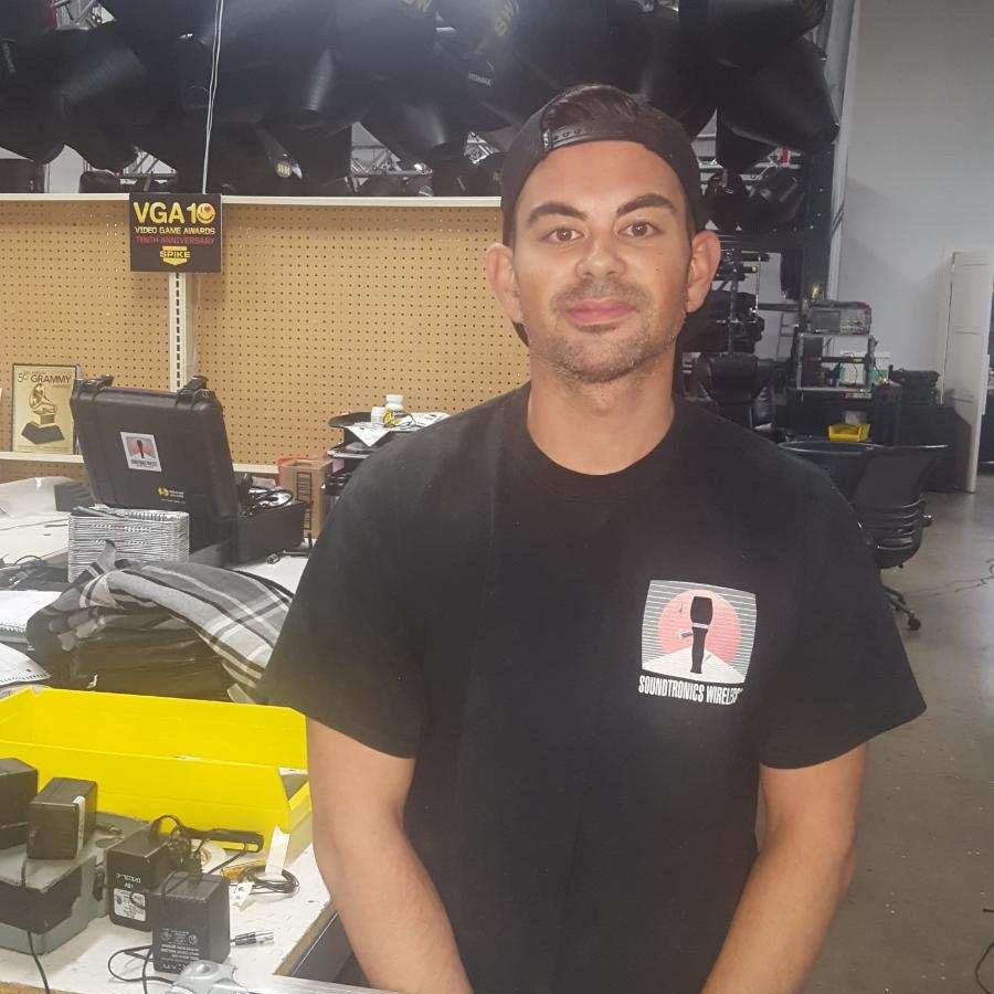 Chris Nakamura - Delivery Technician & Shop TechnicianChris has worked at Soundtronics Wireless for three years; he is in charge of delivery and assisting the Lead Show Technicians and helps maintain and repair equipment.chrisn@soundtronics.com