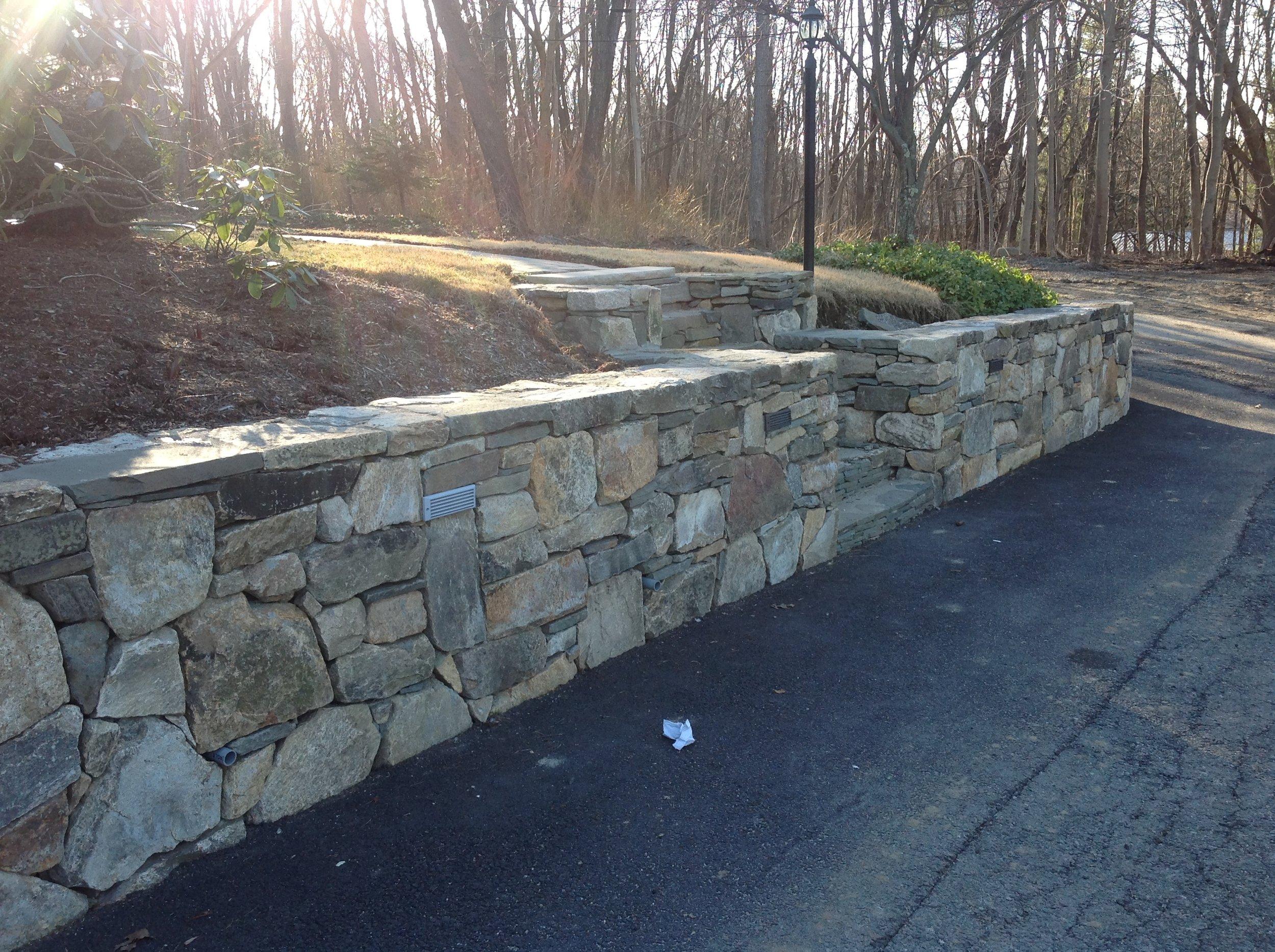 Stone Walls, Installation, Patio