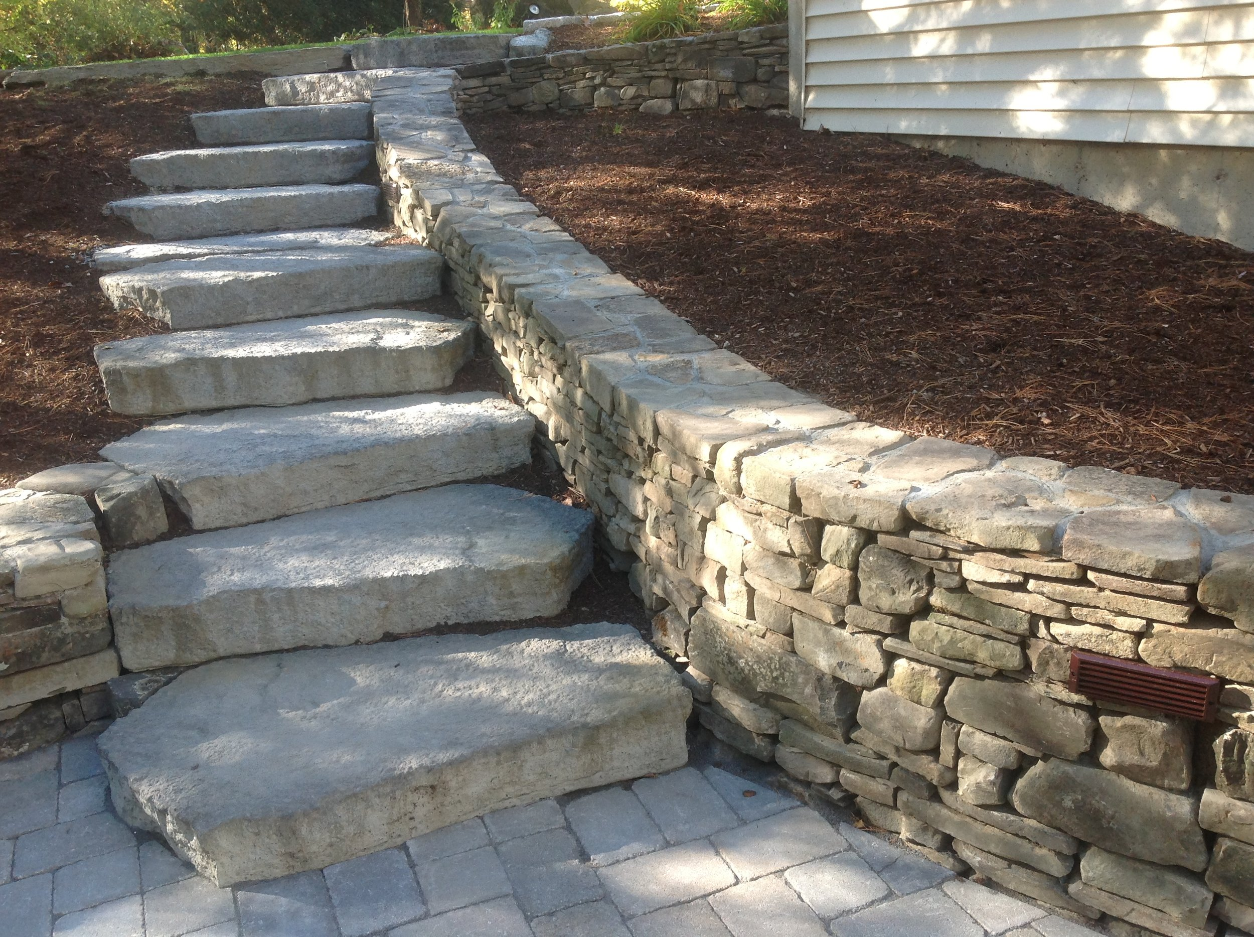 Stone Walls, Patio, walkways