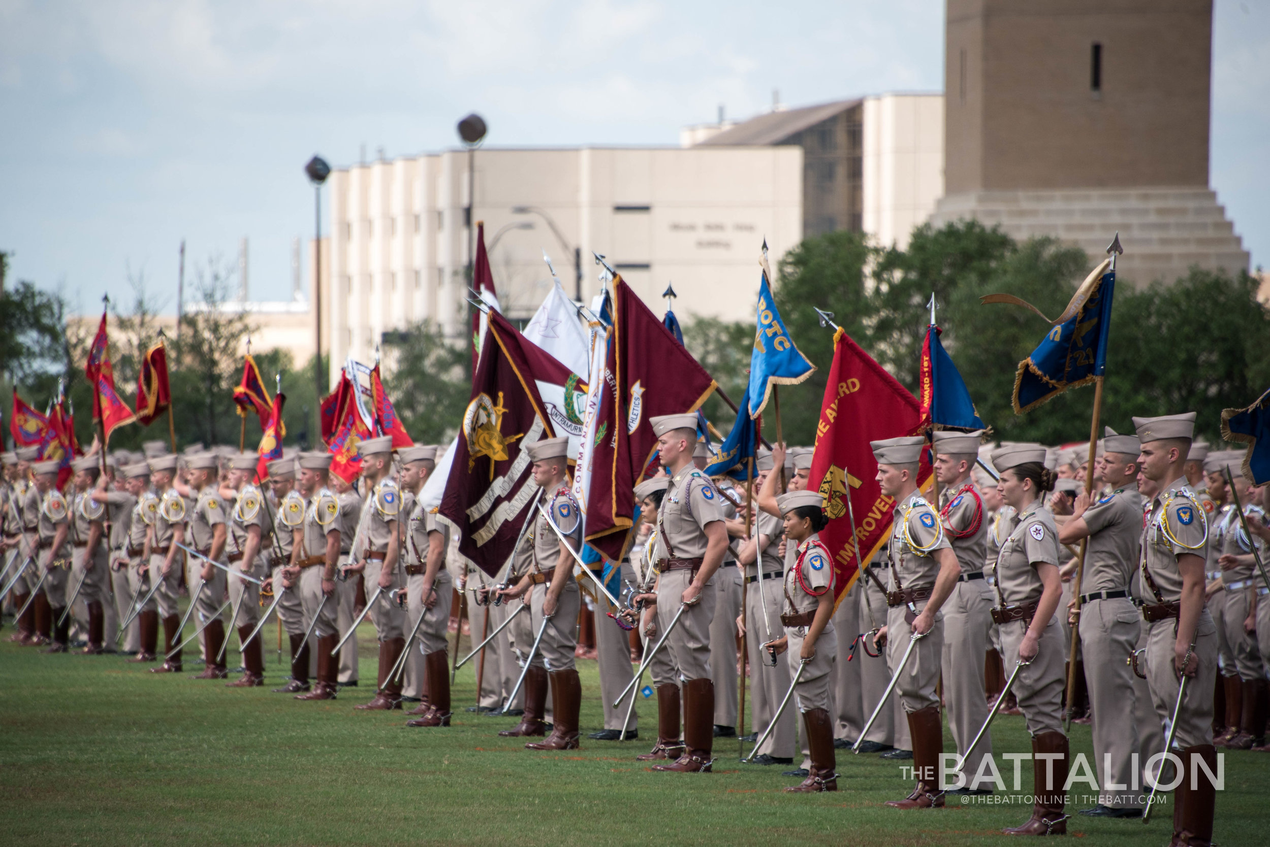 Final Review is a cadet's passage into the next year of the Corps. It symbolizes the transition to the coming year's Corps leadership.   Photo by Cassie Stricker.