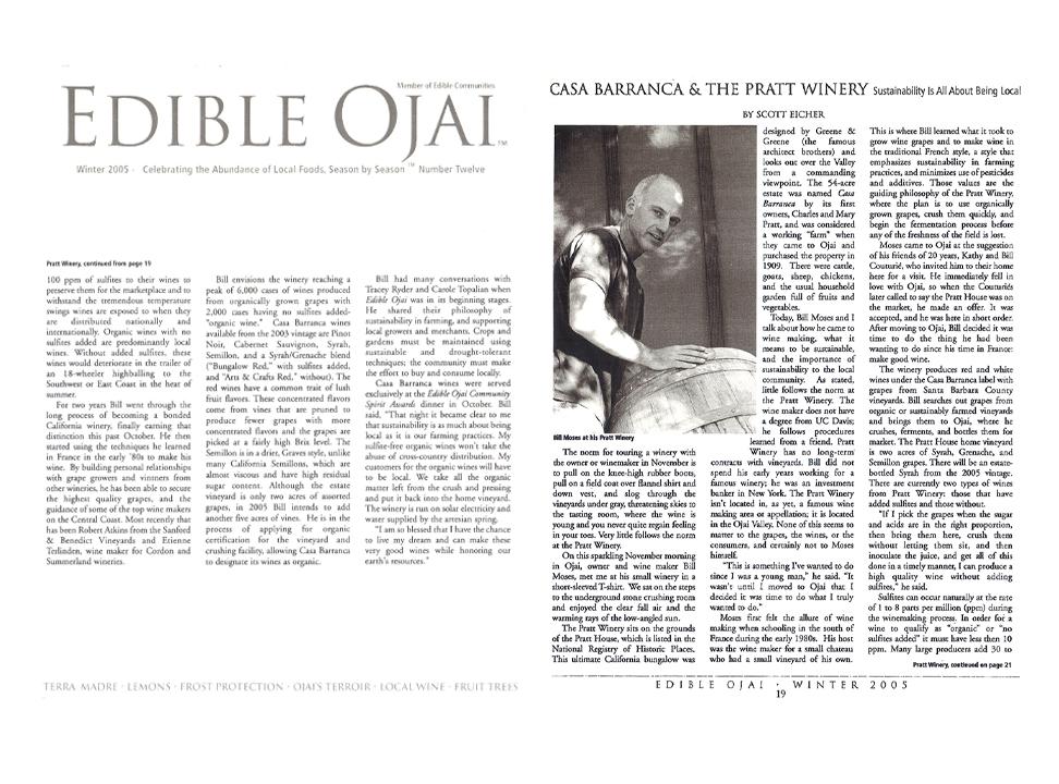 Edible Ojai Magazine - 2005