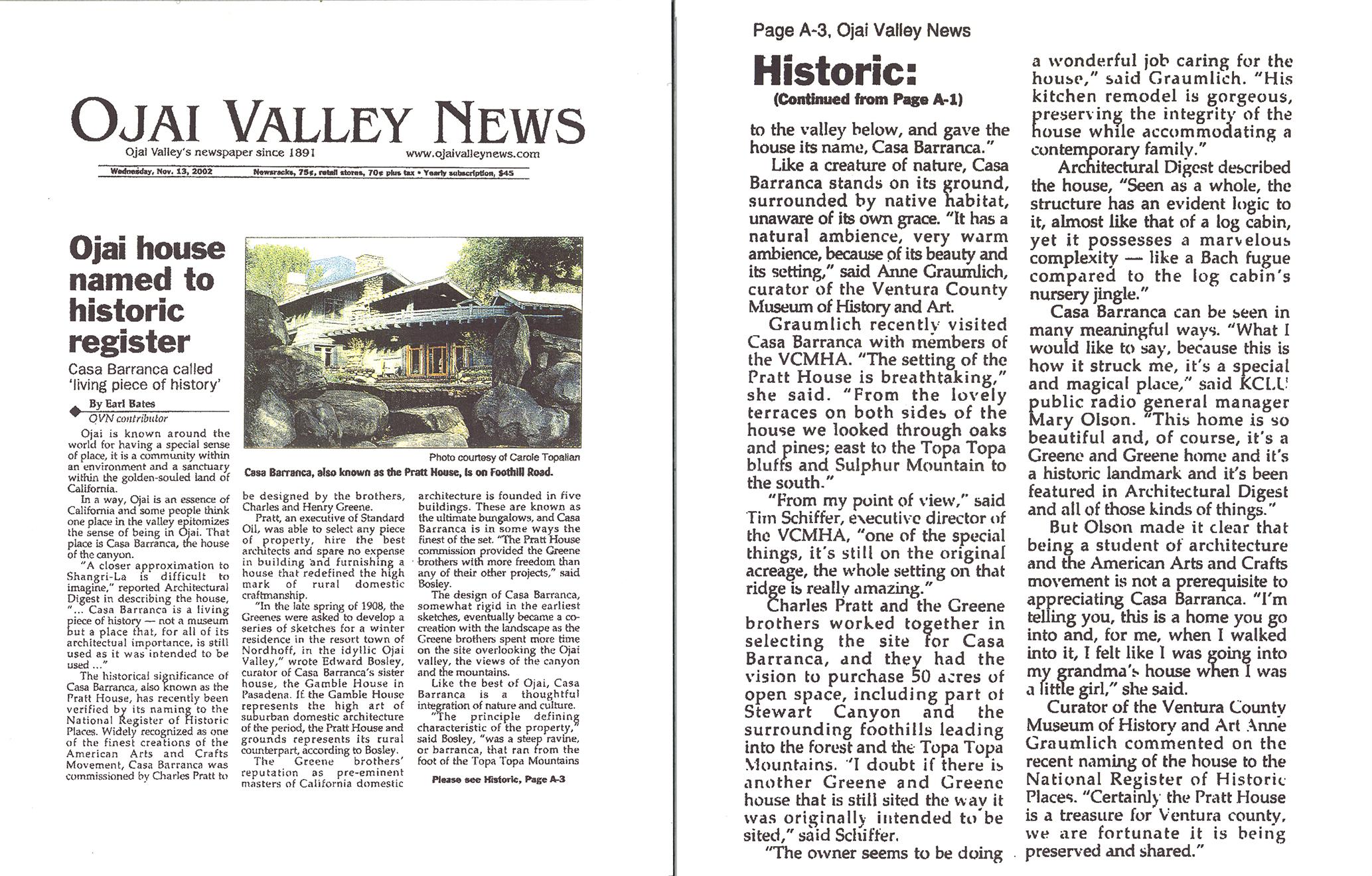 Ojai Valley News