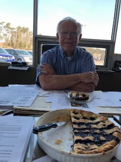 A big Thank-you to John. - J.J. Stewart is the Sponsor for the Parkinson's Pie & Vinyl Sale for April 27th, 2019. Joe's Smucker's Blueberry Pie was shared by the staff in Norwood!Our media sponsor will be Oldies 96.7 with on-site broadcast to promote our Mega Pie and Vinyl Sale. Pies will be made in the Mount Community Kitchen and sold by slice with Kyoto coffee. Over 2,000 albums from the 50's to 90's will be offered for sale. Use your $10 donation coupons on pie or discount on albums.