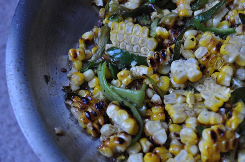 BBQ corn pepper saute
