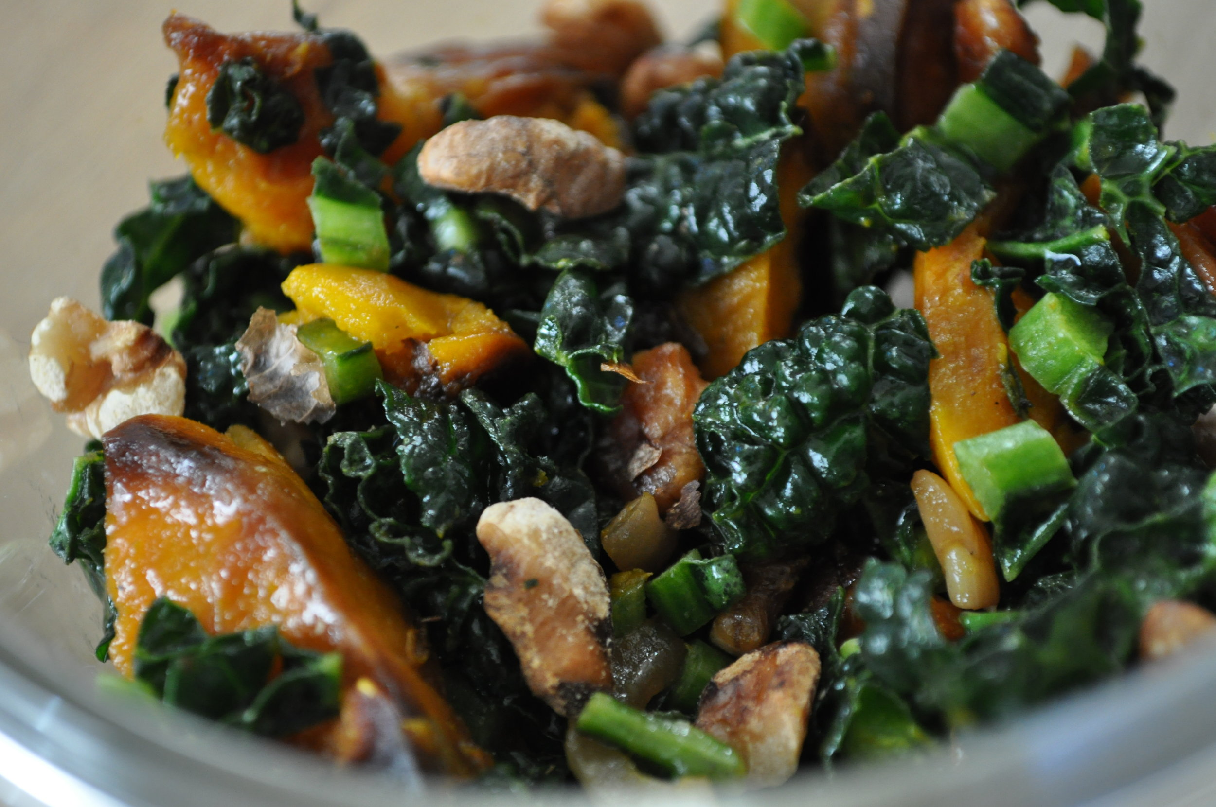 kale squash onion recipe