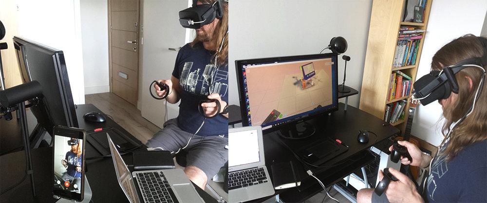 My VR usability testing setup