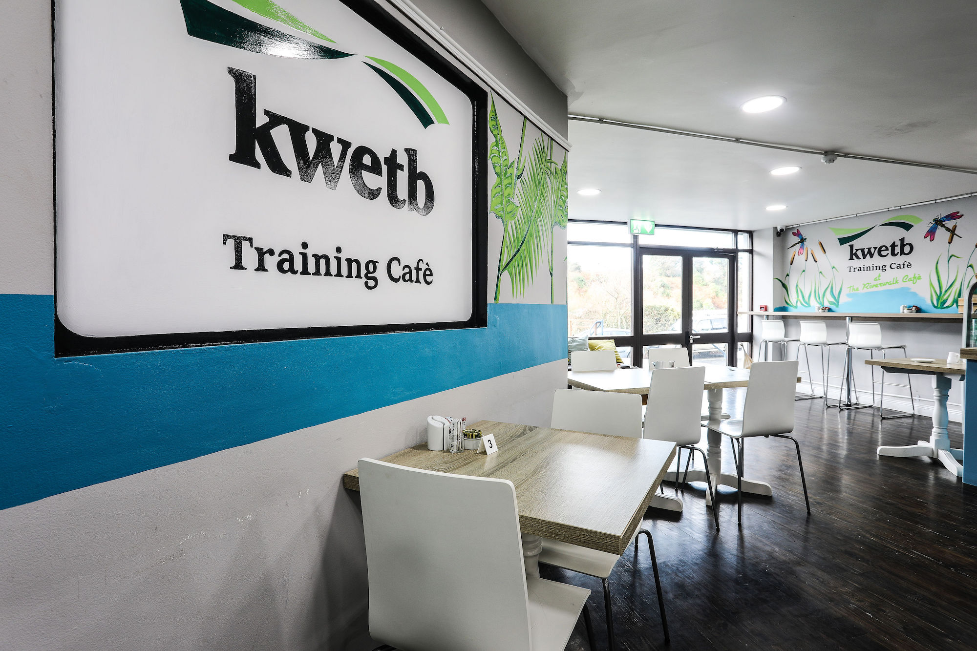 A training café - that is open to the public, allowing learners to experience what it is like to work in a functioning cafe from opening to closing time.