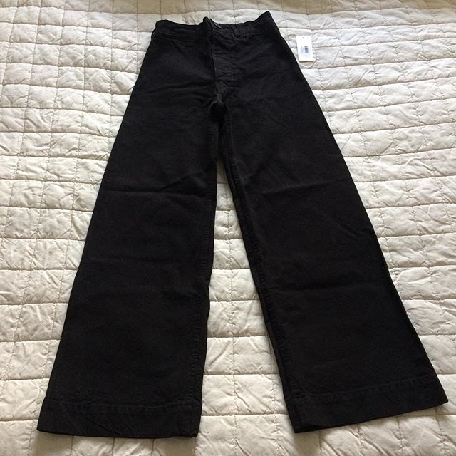 ITEM: Sailor pants  Brand: Jesse Kamm  COLOR: Black  SIZE: 2 CONDITION: New with tags - Bought new from Frances May but decided they're a bit too snug.  PRICE: $325 (gifted please)  SHIPPING: $0 w/tracking & insurance included in the US (no shipping to Canada, sorry)  MATERIAL: 100% cotton SELLER: unpraktisch TAGS: #nbjessekamm #nbkammpants PROTOCOL: Per NB - Please tag me and leave your zip code to purchase. Item goes to first zip code listed. If there are backups for this item I will move onto them after 3 hours.