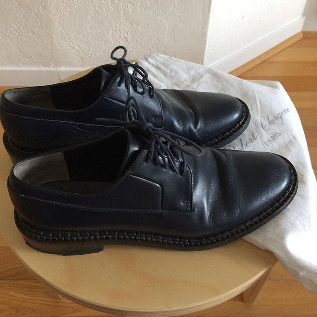 ITEM: Oxfords  Brand: Robert Clergerie  COLOR: Navy uppers & laces, black soles  SIZE: 38 CONDITION: Great pre-owned. There are creases to the leather but no major wear to the uppers. Some wear to the heels and soles. Still beautiful shoes!  PRICE: $105 (gifted please)  SHIPPING: $0 included in the US - No original box, but I'll send along the shoe bag (no shipping to Canada, sorry)  MATERIAL: Leather  SELLER: unpraktisch TAGS: #nbrobertclergerie  PROTOCOL: Per NB - Please tag me and leave your zip code to purchase. Item goes to first zip code listed. If there are backups for this item I will move onto them after 3 hours.