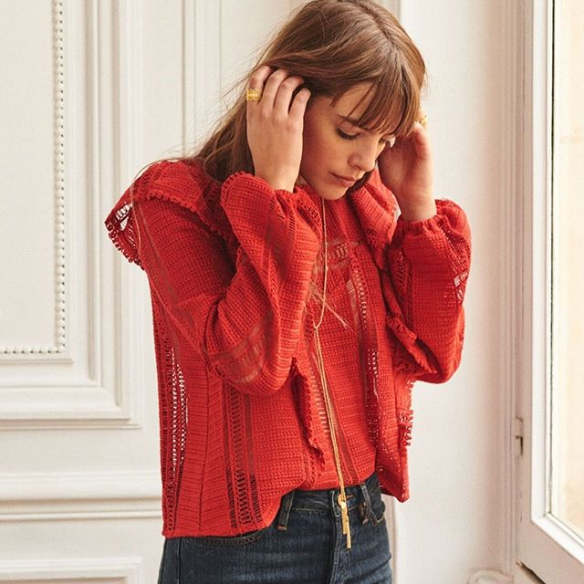 """SIZE: FR34/US 2  PRICE: $75  BRAND / ITEM NAME: Sèzane  COLOR: Red  CONDITION: EUC (purchased on here but didn't work for me - only worn twice by original owner)  SHIPPING: Free!  MATERIAL: 100% Cotton  MEASUREMENTS: Measured flat: Bust 18"""", Length 21""""  SELLER: @omgitsrachlol  PROTOCOL: Please tag me and leave your zip code to purchase. Item goes to the first zip code listed. Please DM me your PP email so I can invoice you.  The listed price includes Paypal Invoicing. PLEASE NO GIFTING. If there are backups for this item I will move onto them after 3 hours of sending invoice. HASHTAGS (#nb__):"""