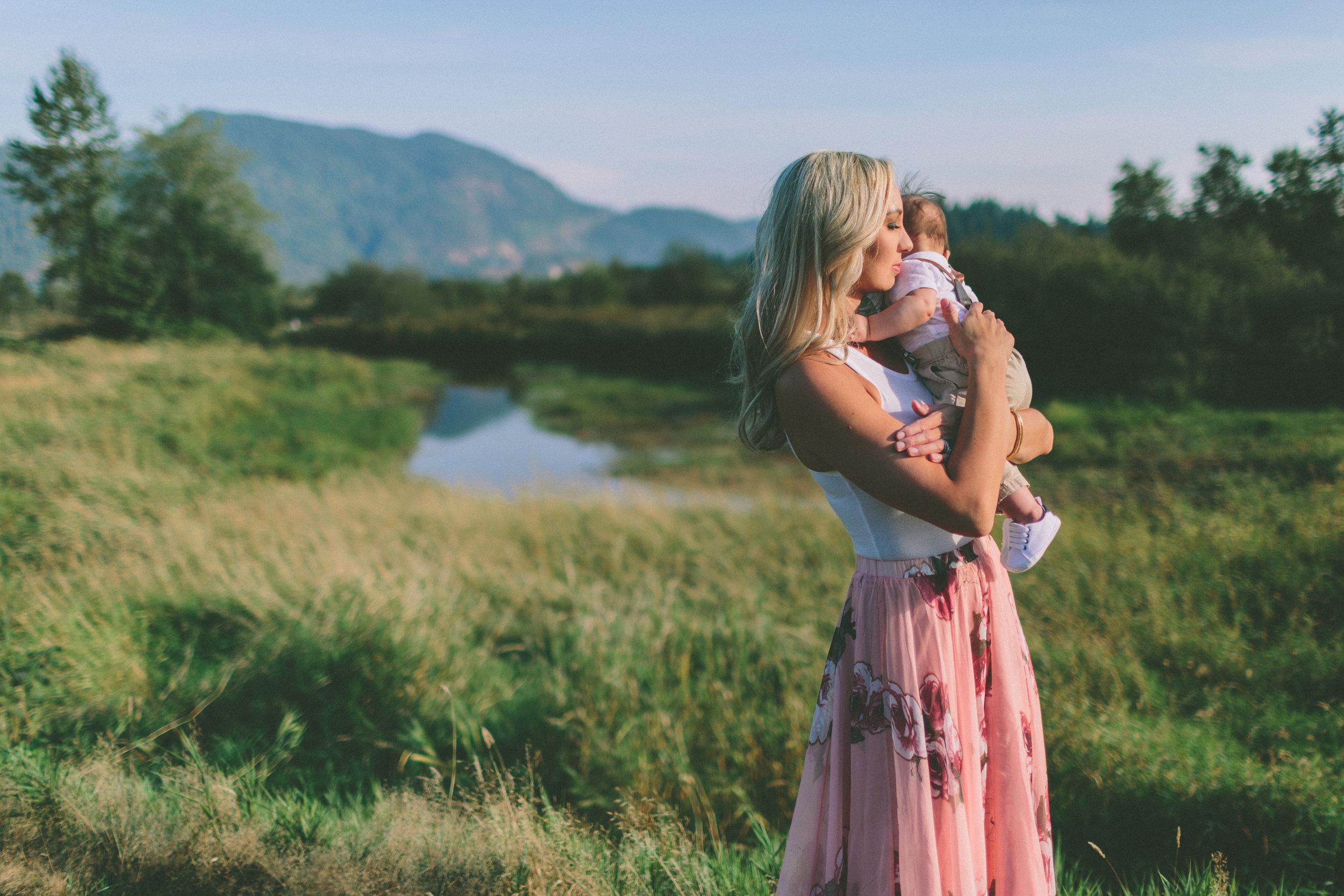 The Bozek Family - at Pitt Lake