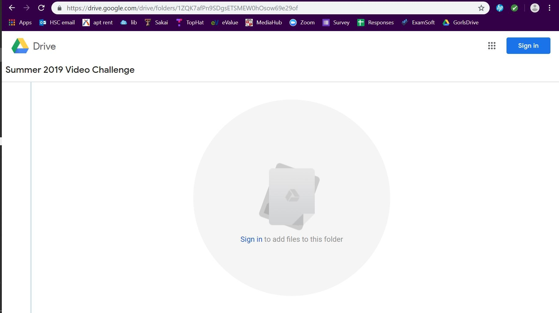 Image A: If you don't have a Google account or you need to sign into yours, this is the screen you'll see after you follow the link to the Google Drive.