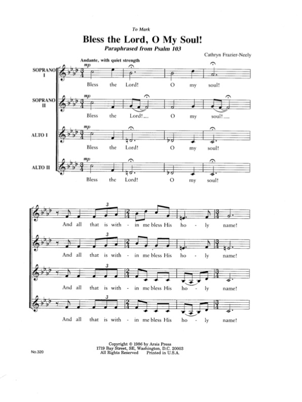ssaa choral sheet music