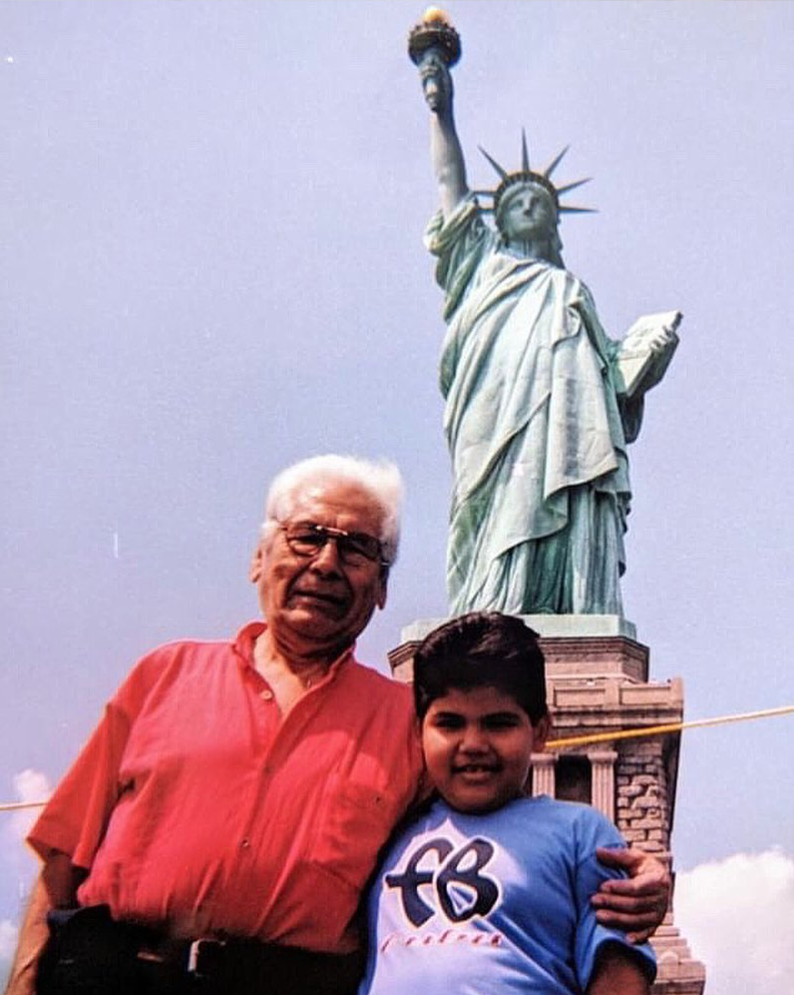 Ricardo and Ricky Delgado. Statue of Liberty, 2000.    READ HIS STORY     .