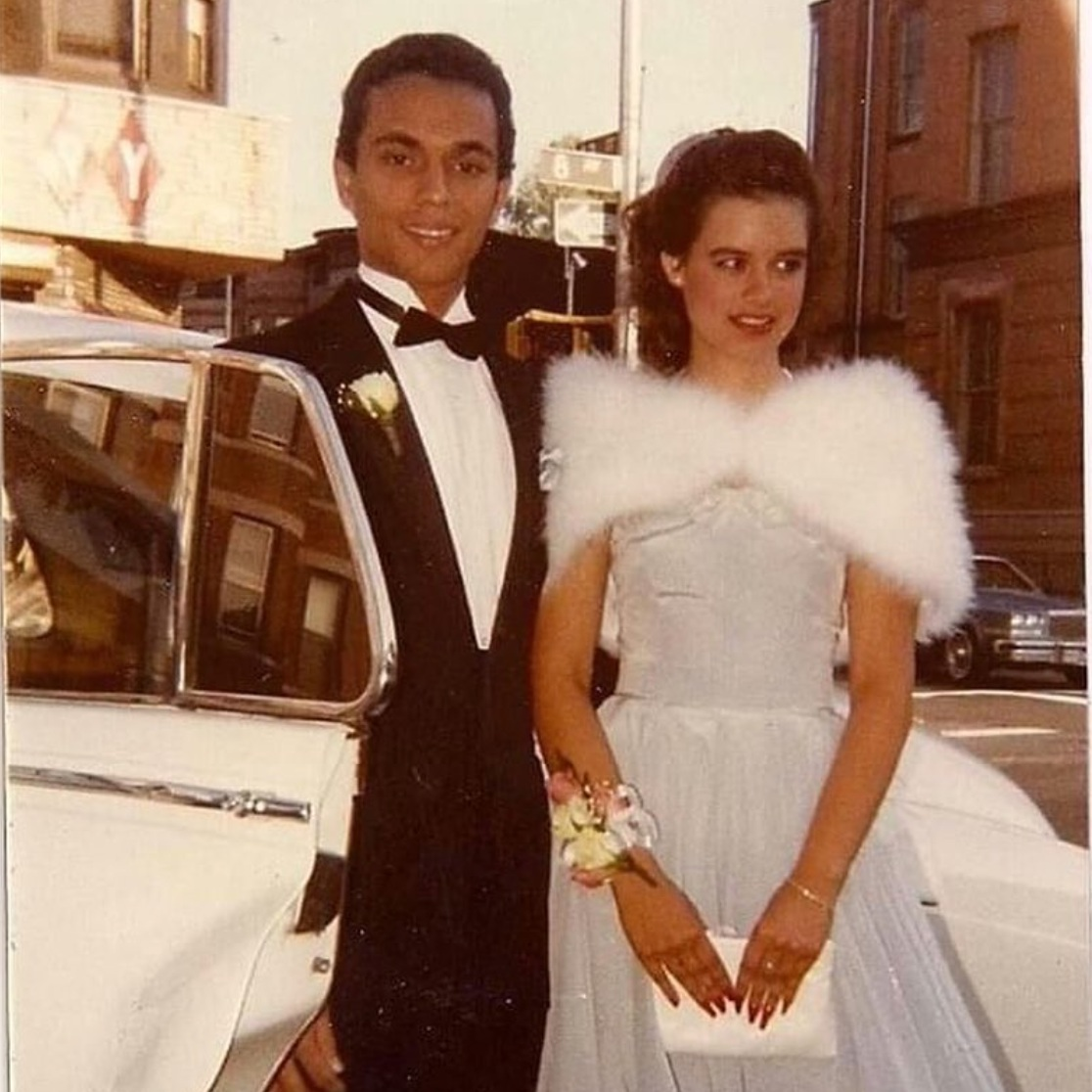 Dennis Vargas (PR) and Angie Gonzalez (Cuba) on their way to prom. Park Slope, May, 1984.  View Post .
