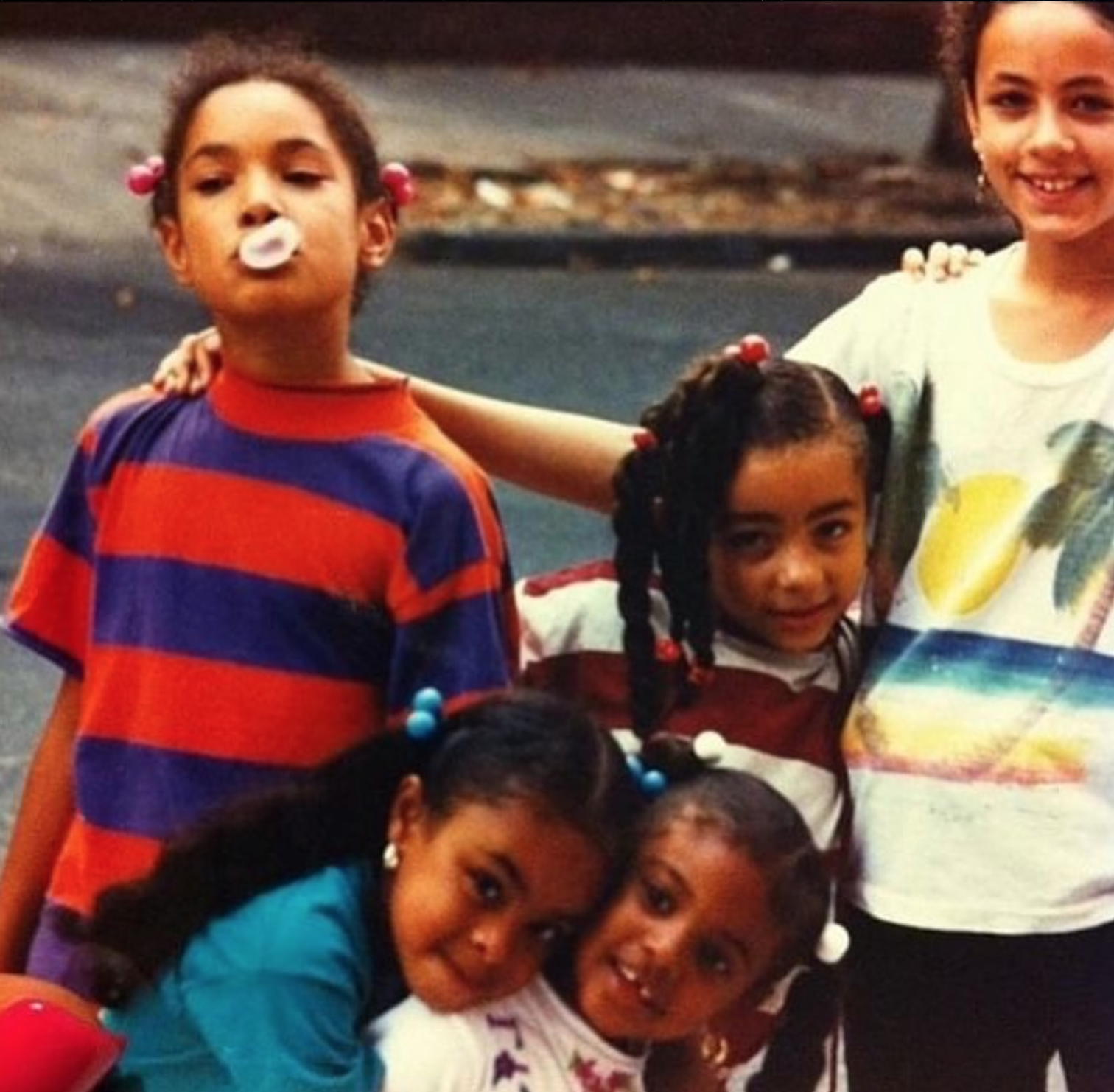 Julissa Hernandez, Katherine Capella, Nicole Doñe, Giselly Sanchez, Cathy Pagan. East New York, 1994.    READ THEIR STORY.