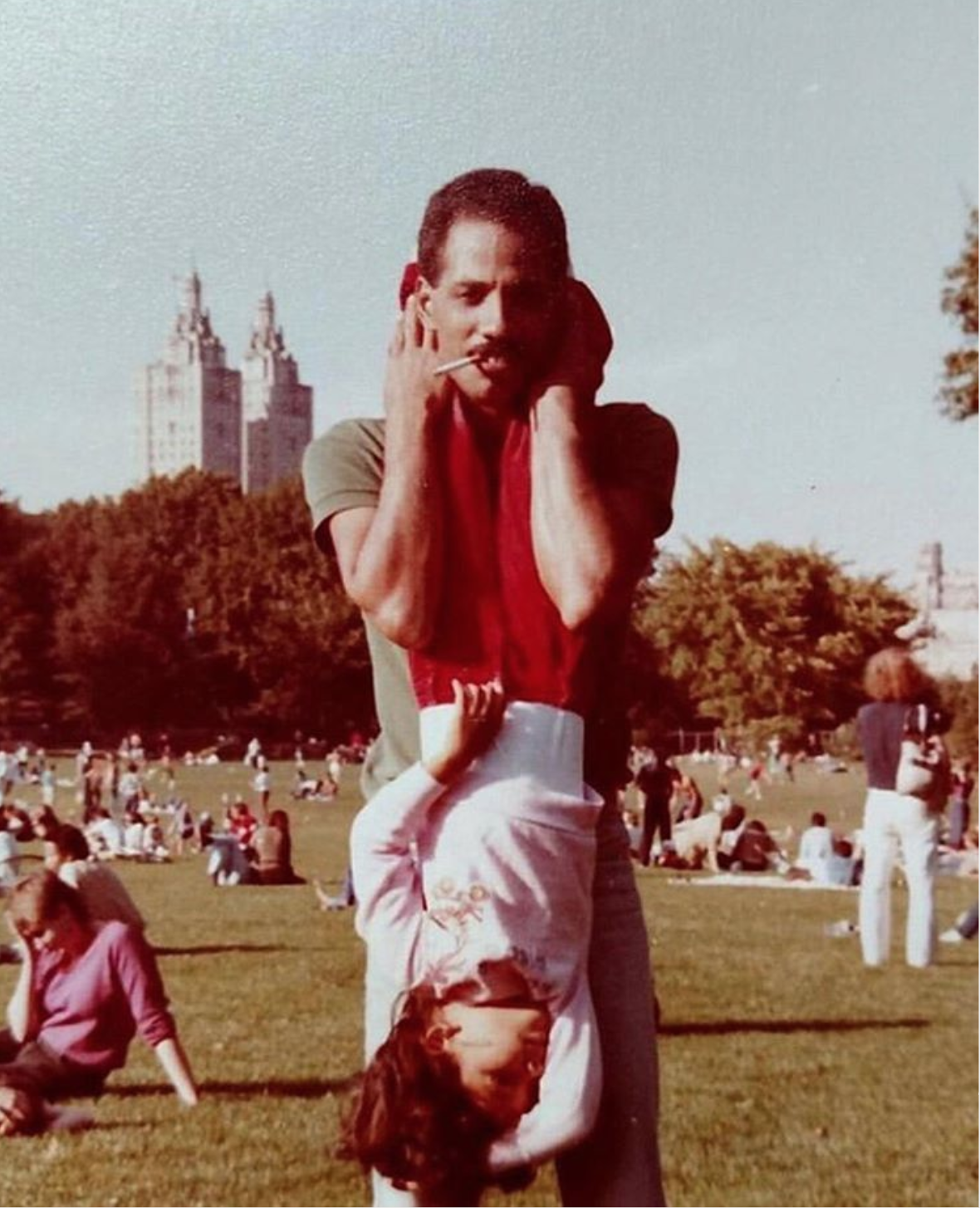 Adrielle and Joaquín Perdomo. Central Park, 1984.    READ THEIR STORY.