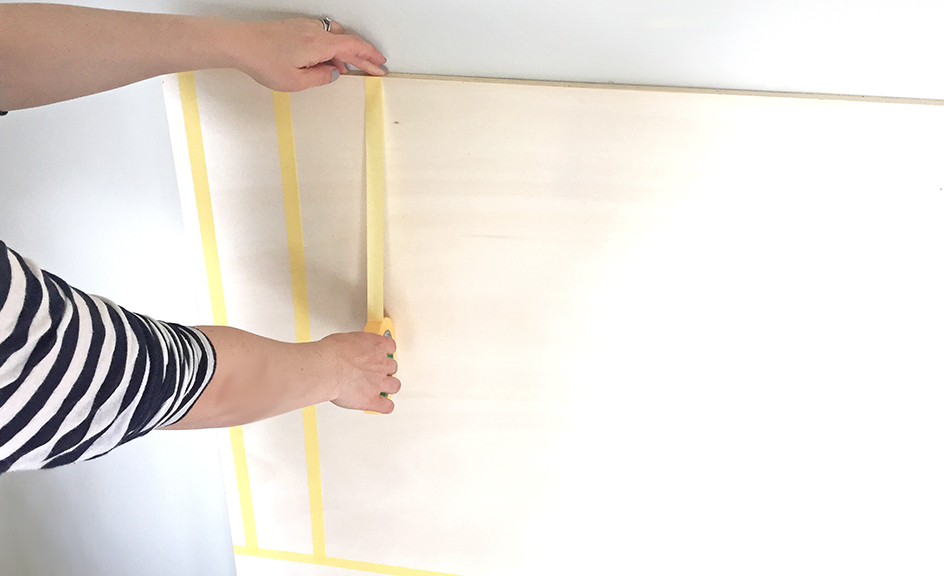 Horizontal_Tape_DIY_Herringbone_painted_headboard_with_Resene_paint_by_Clever_poppy4.jpg