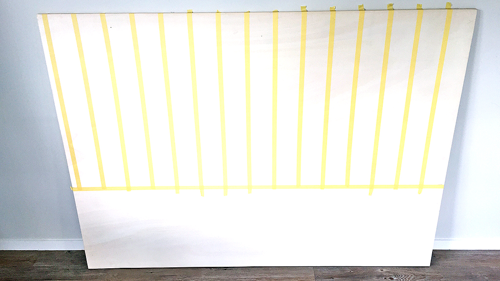 Horizontal_Tape2_DIY_Herringbone_painted_headboard_with_Resene_paint_by_Clever_poppy4.jpg