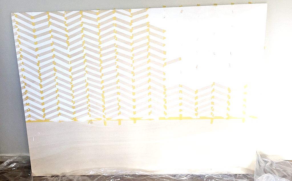 Remove_Tape_DIY_Herringbone_painted_headboard_with_Resene_paint_by_Clever_poppy4.jpg