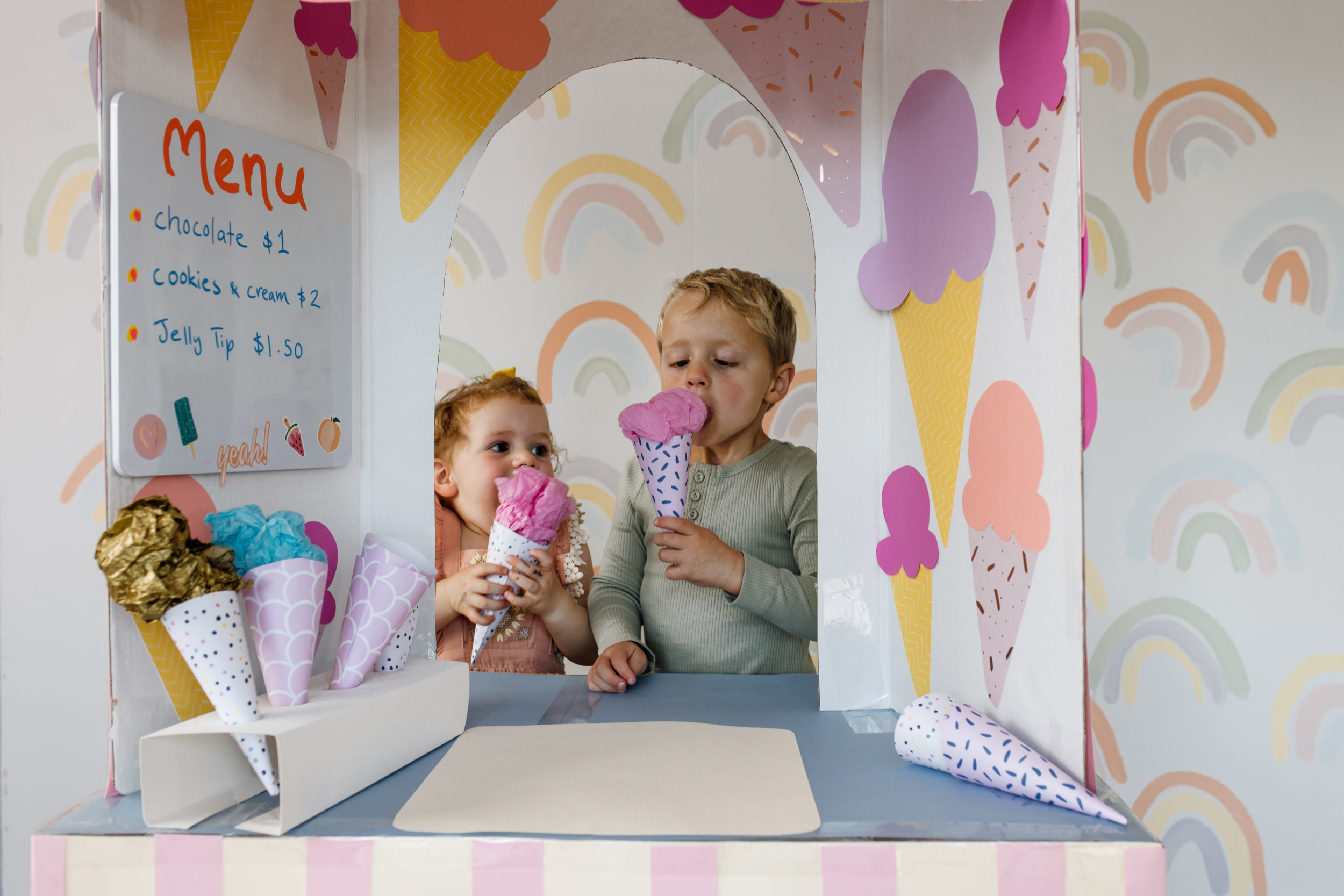 DIY Ice Cream Shop by CLever Poppy eating 1.jpg
