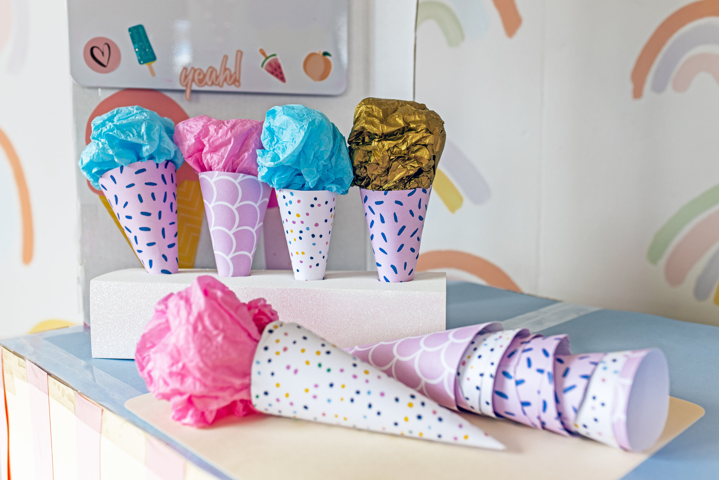 DIY Ice Cream Shop by CLever Poppy cones.jpg