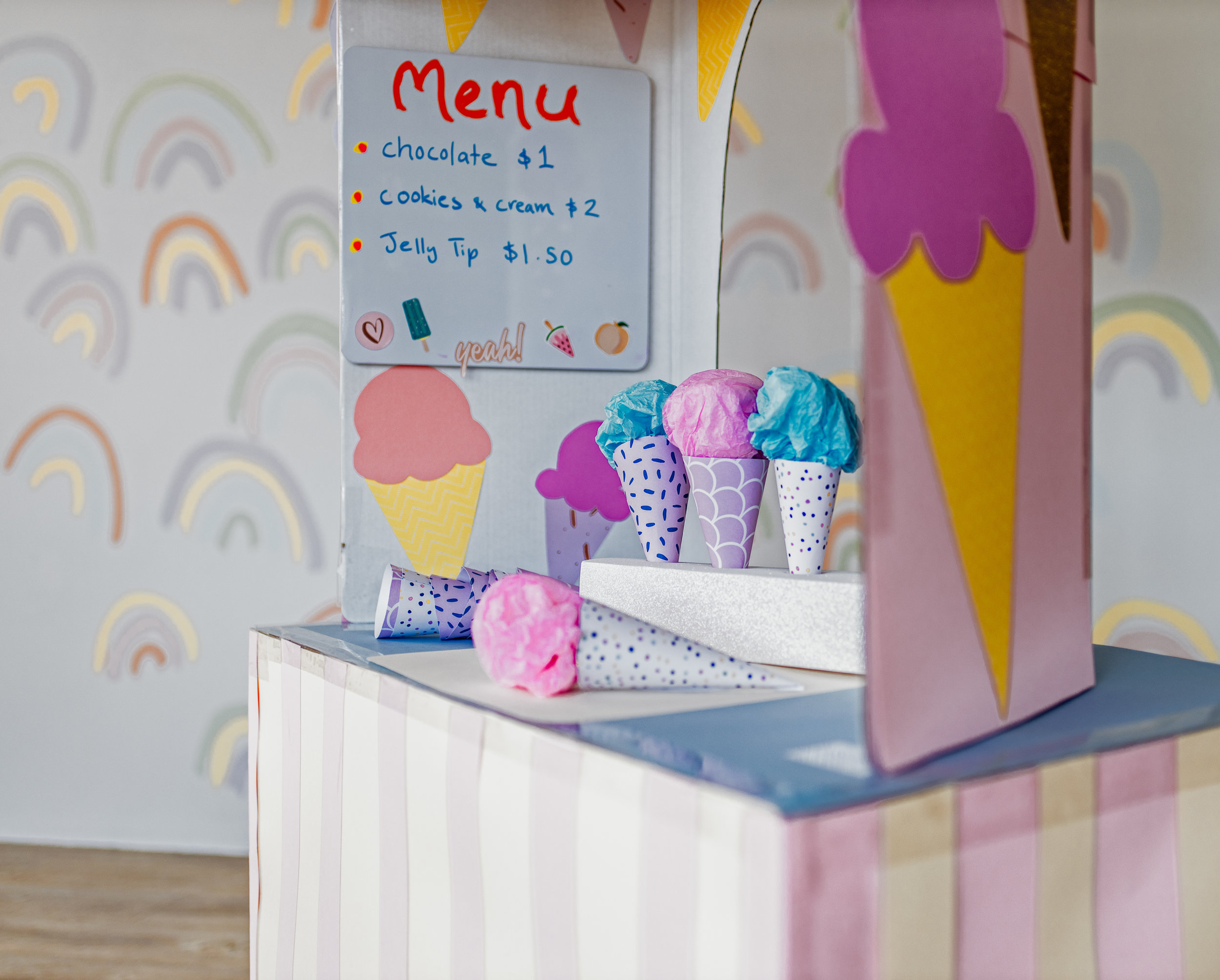 DIY Ice Cream Shop by CLever Poppy cones1.jpg