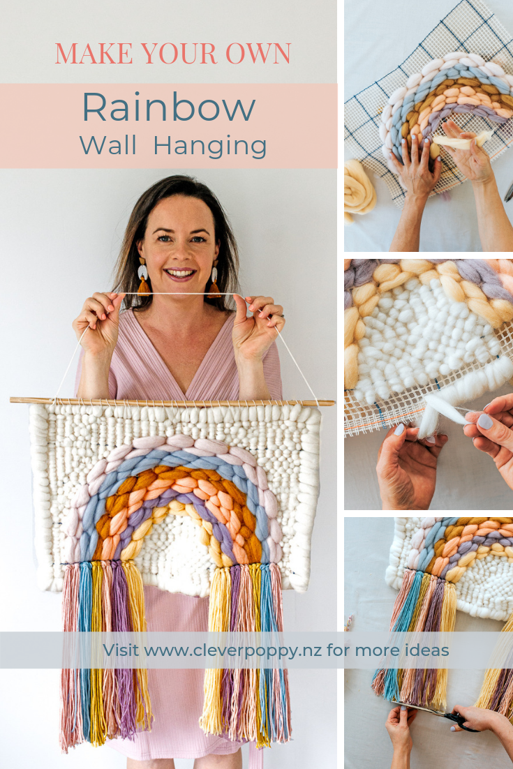 DIY Rainbow Woven Wall Hanging by Clever Poppy.png