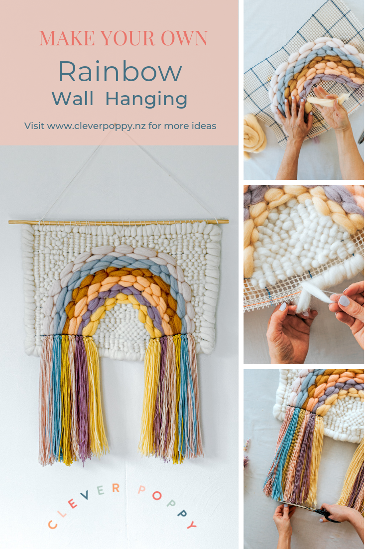 Make your own DIY Rainbow Woven Wall Hanging by Clever Poppy.png