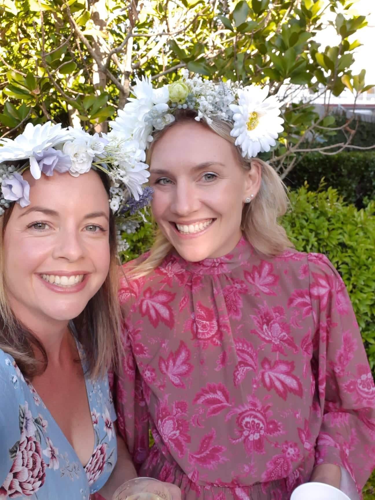 DIY Flower Crowns for Dress Ups by Clever Poppy Girls.JPG