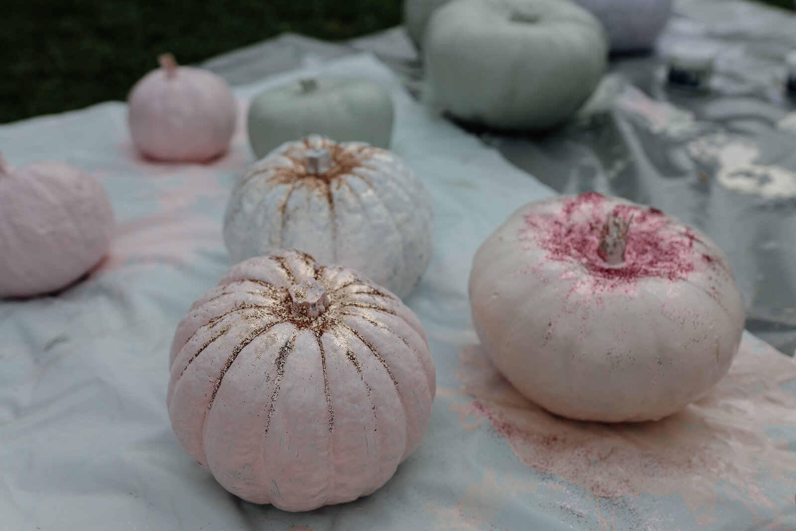 DIY_Painted_Pastel_Pumpkins_by_Clever_Poppy_painting_glitter.jpg