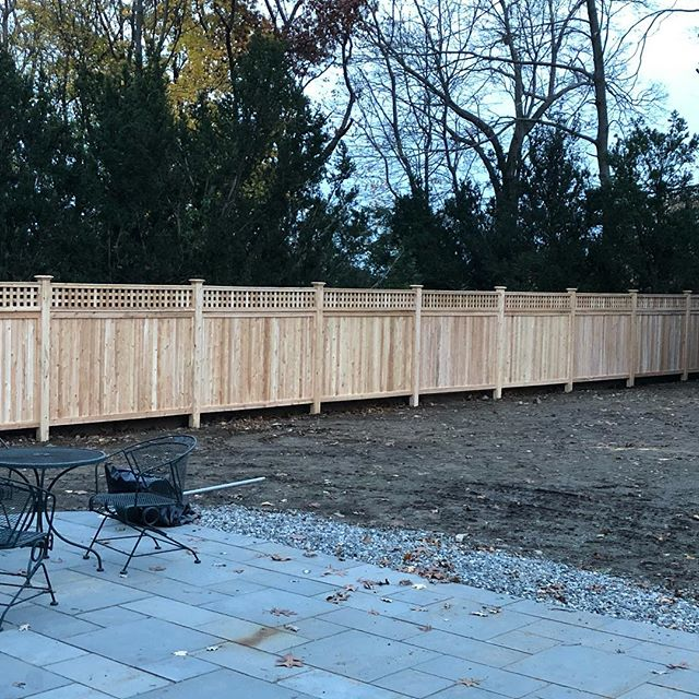 Get em' in before winter.. #imperialfenceinc #cedarfence #fence #latticefence #hardscape #mt85 #bobcatcompany #keepcraftalive