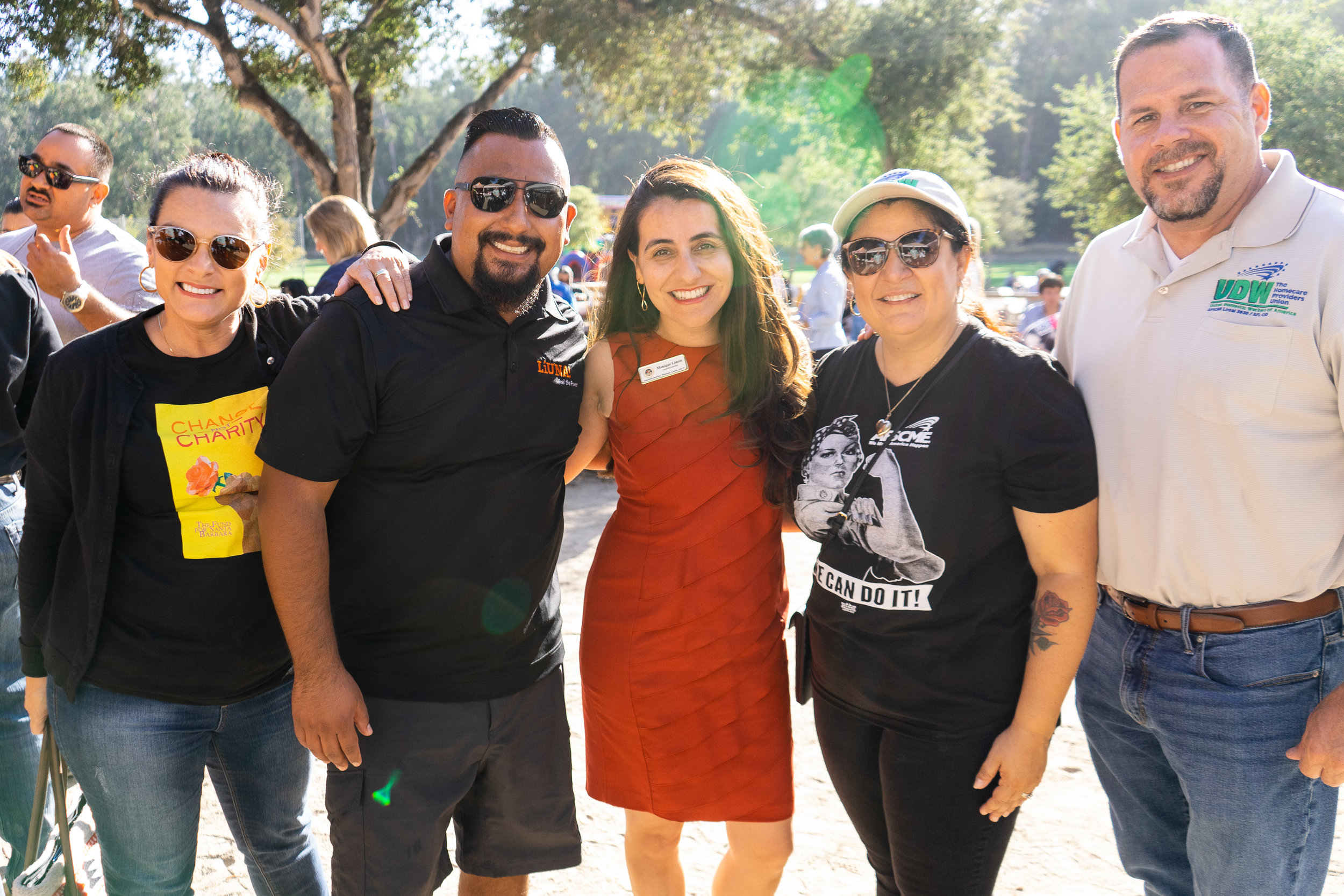 Assemblywoman Monique Limon with Laborers Local 220 Business Manager Hertz Ramirez and CCLC Vice President (and proud UDW member) Yesenia DeCasaus