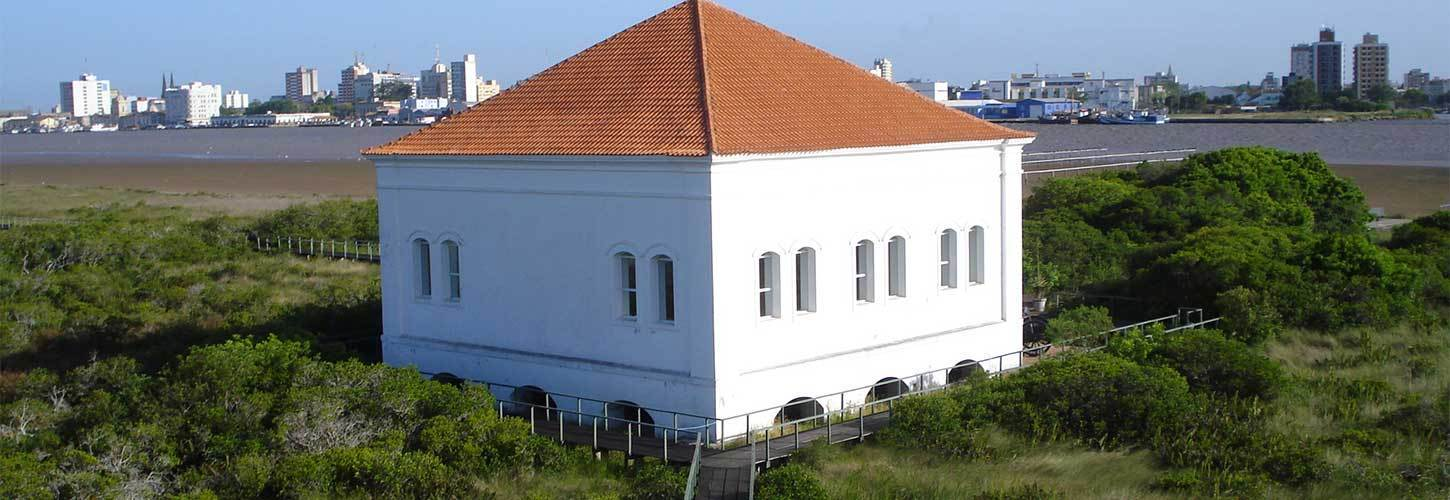 White Building with Tan Roof in Rio Grande, Brazil