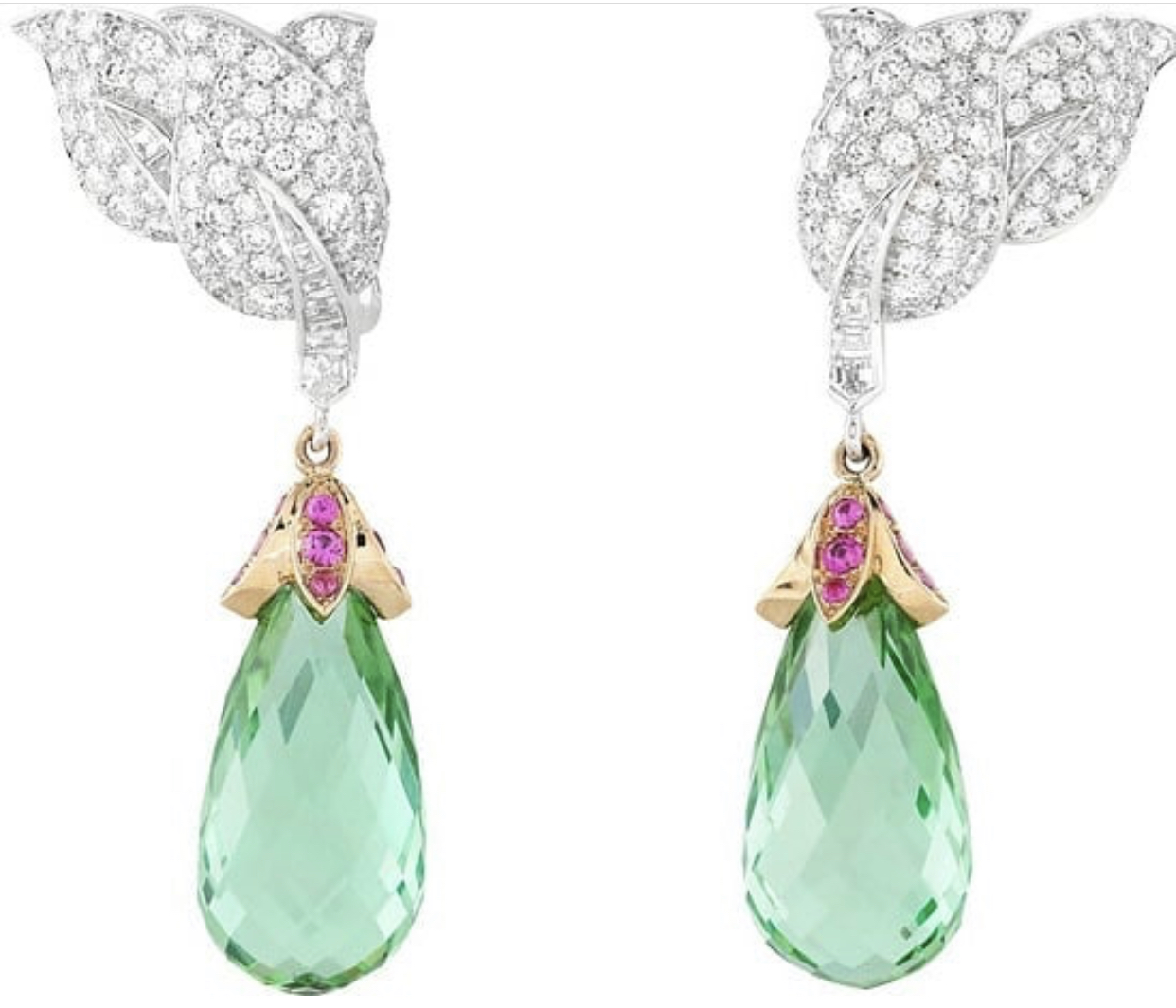 Briolette - is a teardrop shaped faceted gemstone or glass bead.