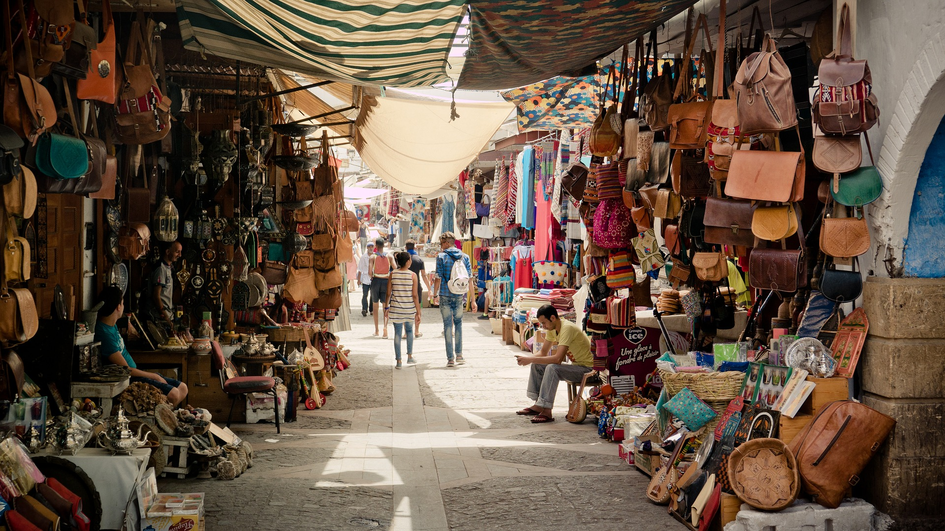 Souk in Fes - home to the oldest medina in North Africa
