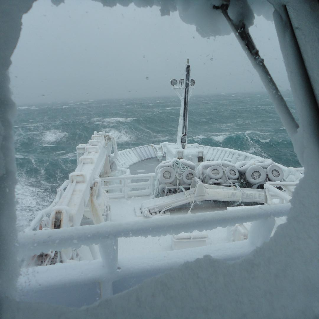 An icy view on the Bering Sea.