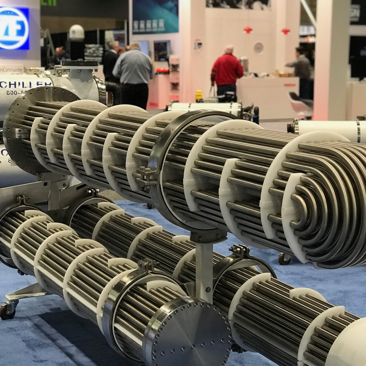 Chillers on display at Pacific Marine Expo in Seattle, Washington.