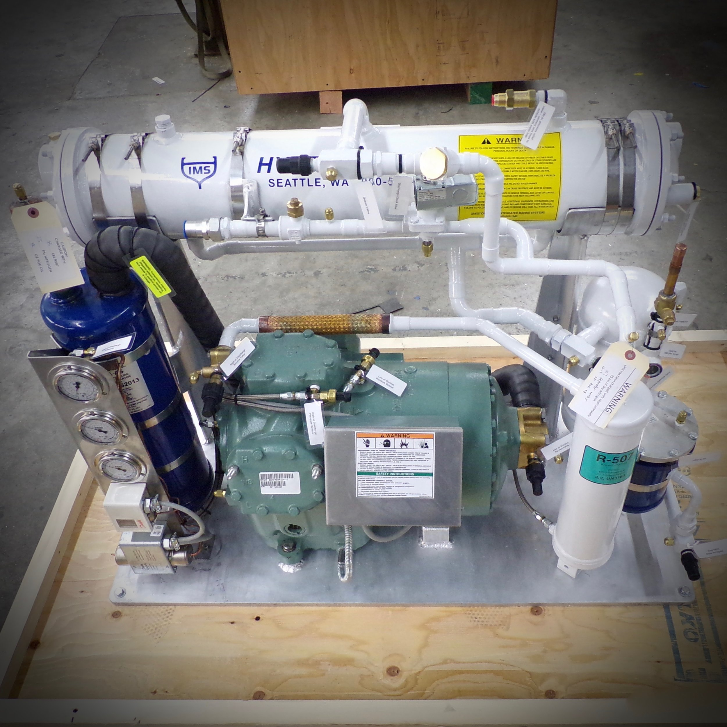 An IMS Dual Temperature Condensing Unit.